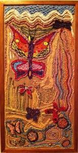 Warrnambool Dreaming Weaving Panel, Lightning Ridge