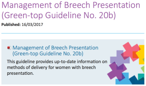 New RCOG guideline published today!